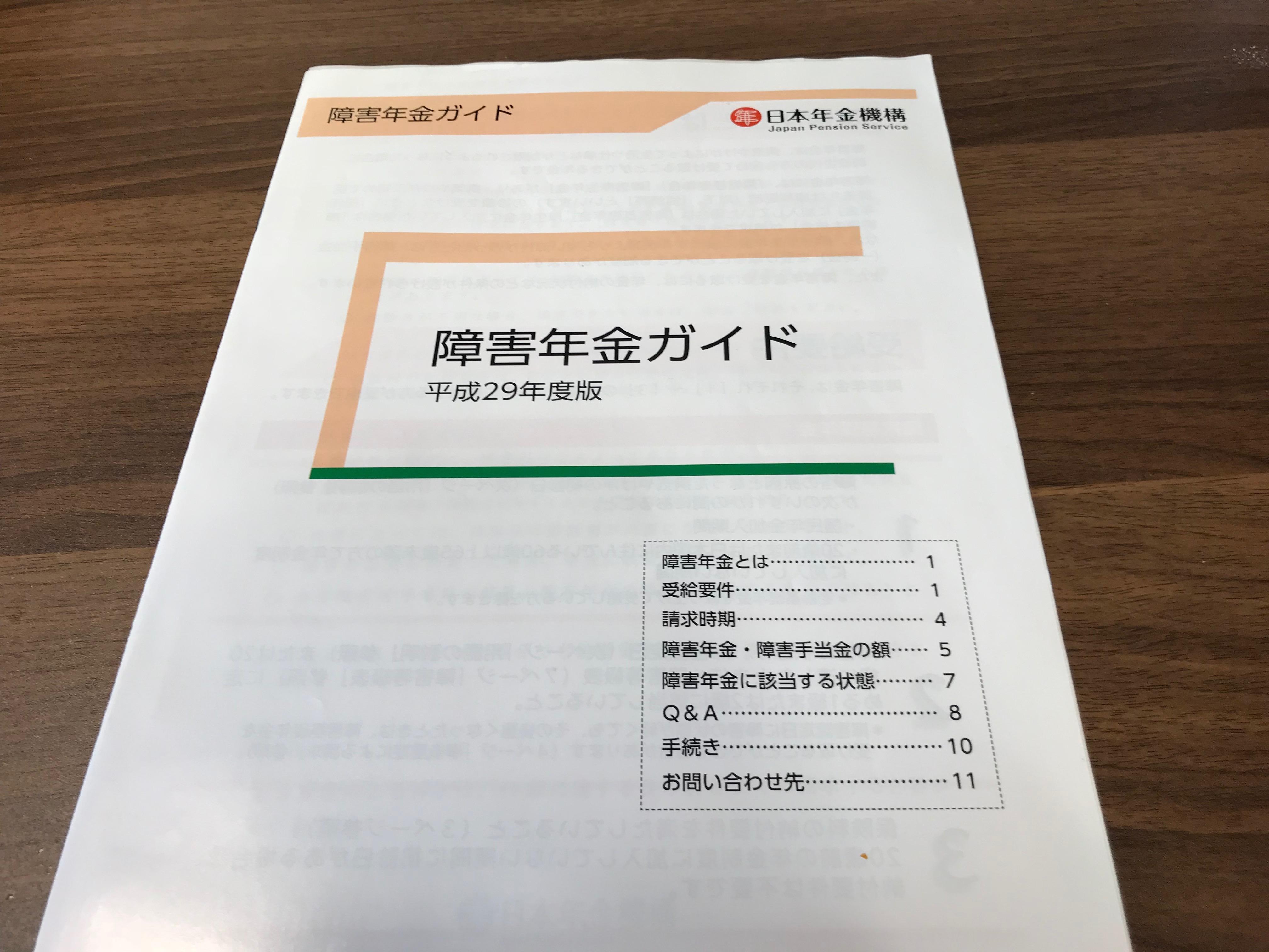 障害年金ガイド(平成29年版)
